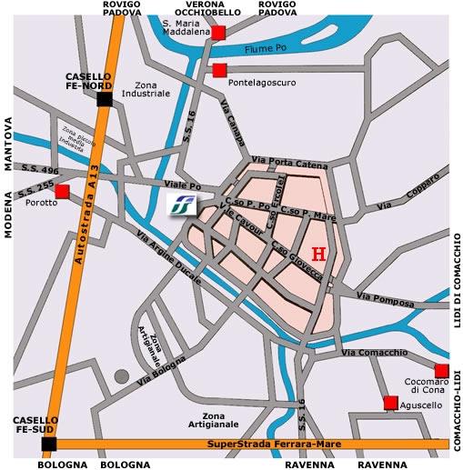 Mappa di Ferrara